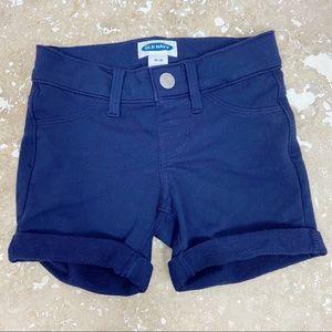 Old Navy kids girls dark blue soft fabric shorts 5